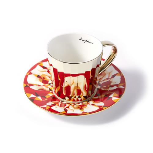 루이초 아프리카코끼리 미러컵+컵받침세트 각형 medium 골드