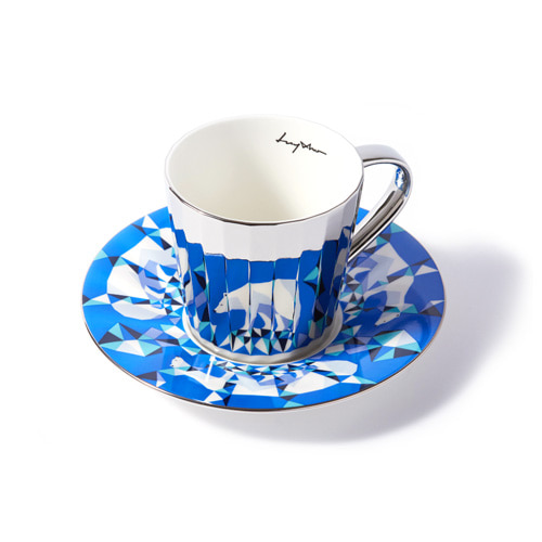 루이초 북극곰 미러컵+컵받침세트 각형 medium 실버