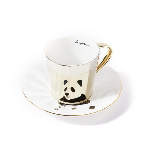 루이초 자이언트팬더 미러컵+컵받침세트 각형 medium 골드