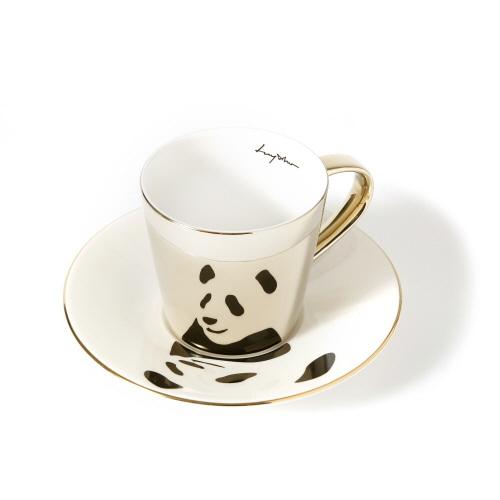 루이초 자이언트팬더 미러컵+컵받침세트 원형 medium 골드
