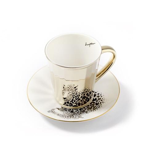 루이초 아무르표범 미러컵+컵받침세트 각형 medium 골드
