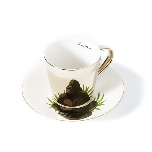 루이초 로랜드고릴라 미러컵+컵받침세트 원형 medium 골드
